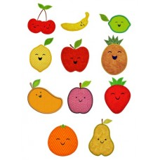 Happy Fruit Applique Design Set