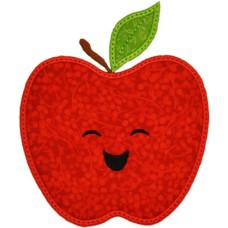 Happy Fruit Apple Applique