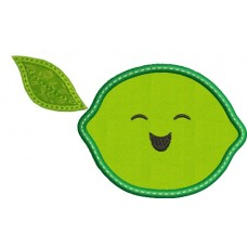Happy Fruit Lime Applique