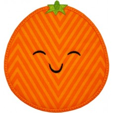 Happy Fruit Orange Applique