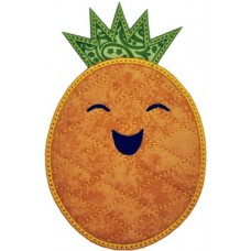 Happy Fruit Pineapple Applique