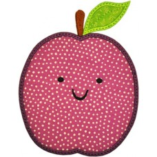 Happy Fruit Plum Applique