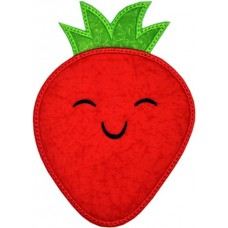 Happy Fruit Strawberry Applique