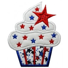 4th of July Cupcake Applique