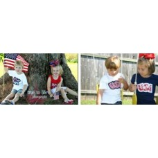 Exclusive USA and JULY 4TH Double Applique