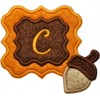 Fall Acorn Monogram Applique Frame Font