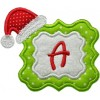 Santa Monogram Frame Applique Font
