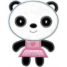 Sweet Panda Girl Applique