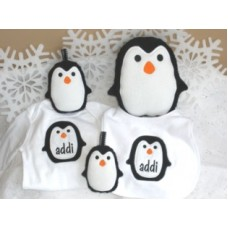 Penguin Snuggly and Matching Applique