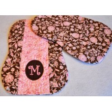 Pieced Quilted Monogram Burp Cloth In the Hoop