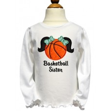 Basketball Pigtails Applique