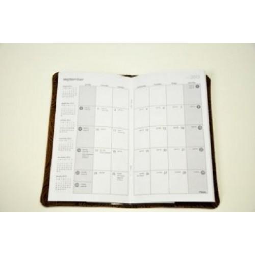 Calendar Planner Cover : Pocket planner calendar cover in the hoop