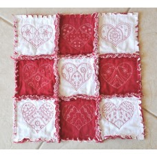 Trendy Hearts Quilt Blocks