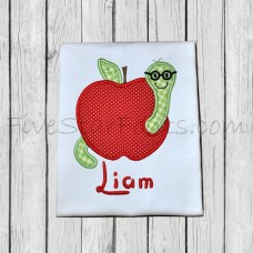 Wormy Apple Applique