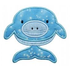 Dolphin Silly Sea Creature Applique