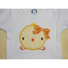 Silly Easter Chick Applique