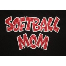 Exclusive SOFTBALL MOM Double Applique