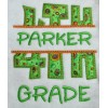 Split 4th Fourth Grade Applique Back to School