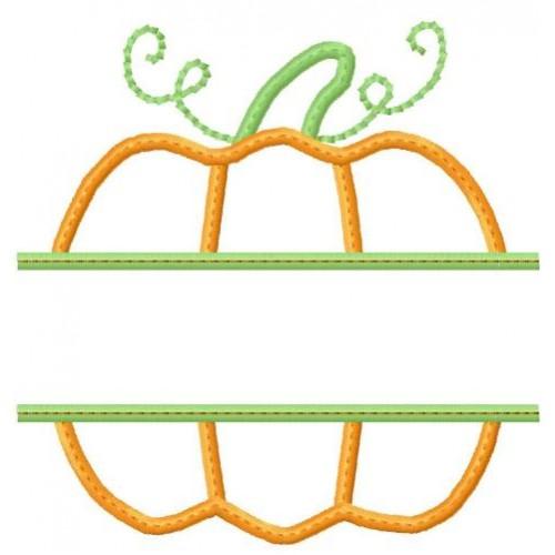 Split thanksgiving pumpkin applique