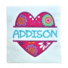 Split Heart Applique