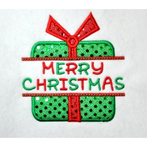 split christmas present applique - Christmas Applique Designs