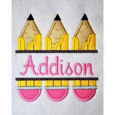 Split Trio of Pencils Applique