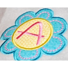 Deco Flower Monogram Applique Font
