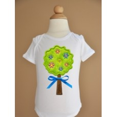Spring Flower Tree Applique