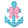 Girly Anchor Applique