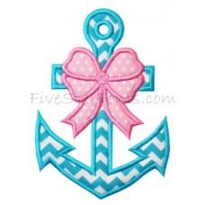 Girly Anchor Applique