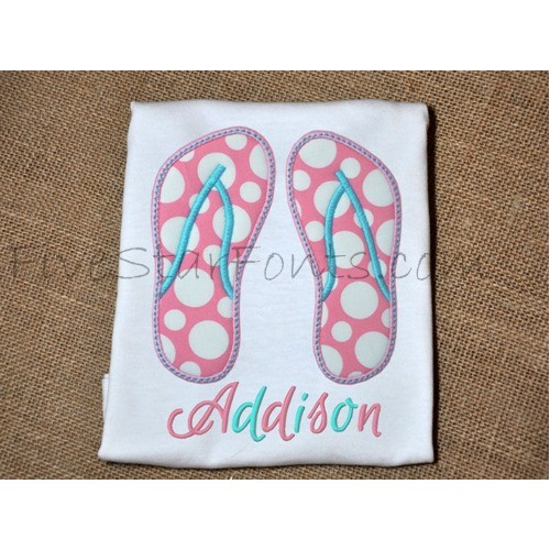 b19e65fb4017 Flip Flops Applique