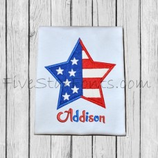 Pieced Flag Star Applique