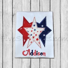 Trio of Stars Applique