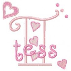 Hearts - Monogram Font 9