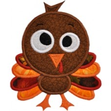 Silly Sweet Turkey Applique