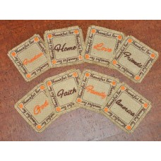 Thanksgiving Burlap Coasters In the Hoop