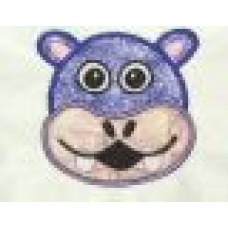 HIPPO Face Applique Design