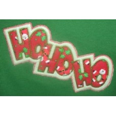 Exclusive HO HO HO Double Applique