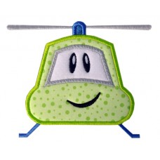 Whimsical Silly Helicopter Applique