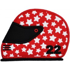 Helmet Applique  Motorcycle Race Car