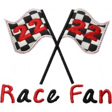 Race Flags Applique