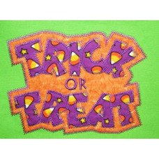 Exclusive TRICK OR TREAT Double Applique