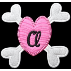 Bones Heart Monogram