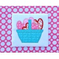 Basket of Hearts Valentine Applique