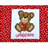 Valentine Heart Bear Applique