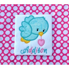 Spring Heart Bird Applique