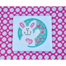 Love You Bunny Applique