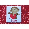 Valentine Monkey Applique Boy