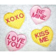 FREE Candy Hearts Applique Designs