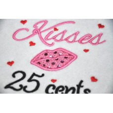 Kisses 25 Cents Applique